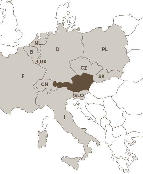 Landkarte mit eingezeichneten SMATRICS Partnernetzen